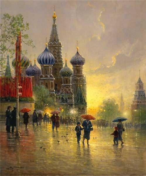 G Harvey Art Light Rain On Red Square By G Harvey A G