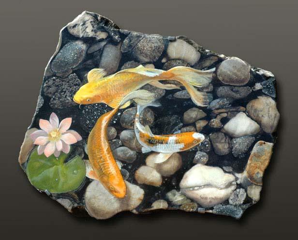 Koi by susan von borstel for Koi pond rocks